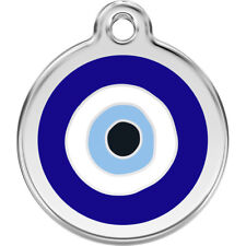 Evil Eye Enamel/Solid Stainless Steel Engraved ID Dog/Cat Tag