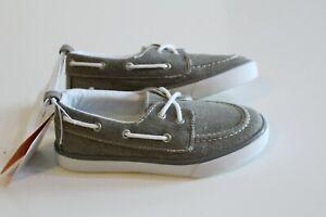 Gymboree Boy Canvas Sneaker Boat Shoes Kid Size 12 Gray