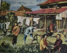 VICTORY WOODEN JIGSAW PUZZLE - 'A SILK PRODUCERS HOME' - WITH ORIGINAL BOX