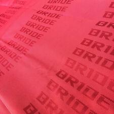 30x63'' JDM Red BRIDE Racing Seat Cover Door Panel Armrest Decoration Material