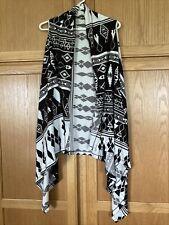 Wrangler Size Xxl Womens Sleeveless Open Front Vest Aztec Print