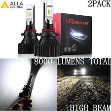 Alla Lighting UM-2018 8000lm 9012 HIR2 Super White High Beam LED Headlight Bulbs