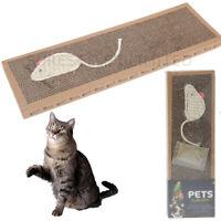 Cat Kitten Scratch Pad Toy Play Corrugated Card Board Scratcher Scratchering Mat