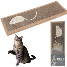 Cat Kitten Scratch Pad Toy Play Corrugated Card Board Scratcher Scratchering Mat