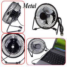Metal Computer Portable Mini Super Mute PC USB Cooler Cooling Desk Fan blades AA