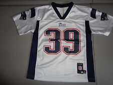 White New England Patriots #39 Laurence Maroney NFL Screen Jersey Youth M NICE