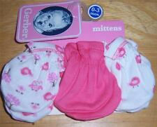 New Gerber Girl's 3 Pack Mitten Set, 0-3 Months, Baby Shower