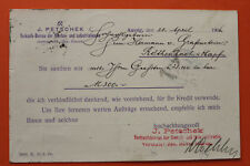 République Tchèque CZ AK Aussig Ústí nad Labem 1906 J Petschek Bureau on a industrie +