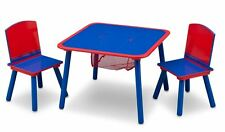 Delta Children Table and Chair Set Blue and Red MDF Wooden Table and Chairs Kids