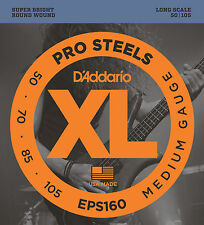 D'ADDARIO EPS160 PROSTEEL BASS STRINGS, MEDIUM GAUGE 4's -  50-105