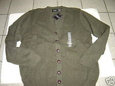 NEW MENS HAGGAR OLIVE GREEN CARDIGAN SWEATER SIZE S