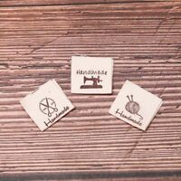 50pcs Handmade labels tags fabric making sewing crafts for clothes bags DIY