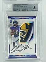 BGS 9/10 2016 CHRIS MOORE National Treasures Holo Silver RC Patch OC AUTO 9/25