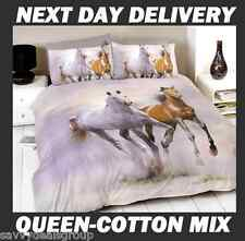 HORSE DOONA DUVET QUILT COVER SET,QUEEN,FOLLOW MY LEAD HORSE + FOUL PONY