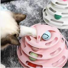 Funny Cat Toy Plastic Tower Interactive Track Ball Playing Game
