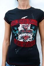 HARD ROCK MADRID SPAIN T SHIRT BLACK All you need is Rock All is one Ladies S