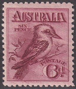 1914 6d engraved Kookaburra. Reddish maroon shade. BW 60B