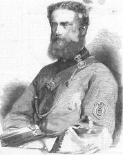 SOMT. John Barham Carslake, Lt 5th Somersets, antique print, 1868