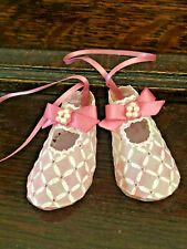 MINIATURE PINK BABY SHOES IN BOX ALL  PROCEEDS TO CHARITY