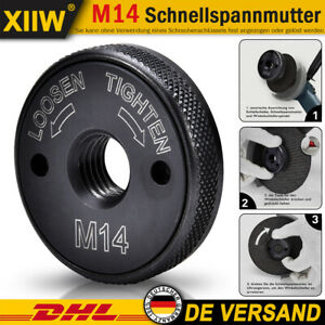 1/2/5x Schnellspannmutter M14 Schraube für Bosch Metabo Makita Winkelschleifer