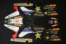 YAMAHA YZ 125-250 2002-2005 ROCKSTAR FLU MX GRAPHICS KIT STICKER KIT STICKERS