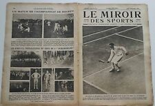 Le Miroir des Sports n°71- 1921 - Jeux Olympiques Tennis Rugby Football
