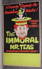 THE IMMORAL MR. TEAS original 1959 movie poster RUSS MEYER
