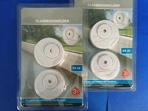 4 x Glasbruchmelder Fensteralarm Einbruch Melder Alarmanlage Fenster Tür Alarm