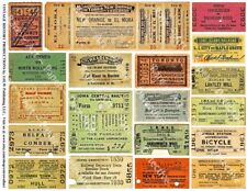 Train Ticket Stubs, Travel Paper Art, Railroad Ticket, Transportation Tags, 614