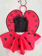 Ladybug Costume Halloween 2T-3T Toddler Wings Red Dress Polka 24 Months Baby Ear