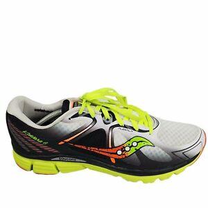 Saucony Kinvara 6 Mens Running Shoes Size 12 S20282-1 White/Citron/Orange