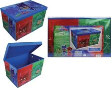 PJ Mask Childrens Foldable Kids Toy Storage Box Chest With Lid Owlette Gekko