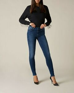 New Women Jeans Skinny Stretchable Mid Rise Tight Comfy Fit Casual Pant UK Sizes