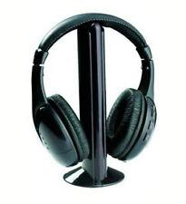AURICULARES INALAMBRICOS 5 EN 1 30 MTS RADIO FM TV PC MP3 MP4 RF SONIDO DIGITAL
