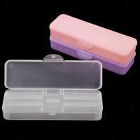 Leere doppelte Schicht Kunststoff Aufbewahrungskoffer für Nail Art Brush