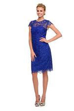 TheDressOutlet Elegant Modest Short Mother of the Bride Dress Royal Blue
