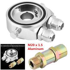 Car Oil Filter Temp Pressure Cooler Gauge Sandwich Plate Adapter Sensor 1/8 NPT