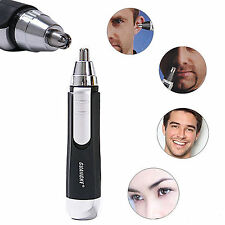 Mens Rechargeable Electric Nose & Ear Hair Trimmer Cleaner Portable Travel Gift
