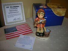 Hummel Figurine New York Firefighter #1449 September 11 2001 BOX, SIGNED, BEE