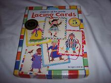 eeBoo Lacing Cards Children of the World EUC Oppenheim Best Toy Award