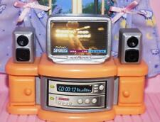 Dollhouse kids bedroom sports television center fits Fisher Price Loving Family