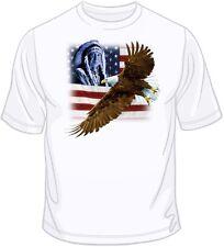 Indian, U.S. Flag & Eagle T Shirt  You Choose Style, Size, Color 10545