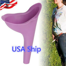 US 1pc Female Lady Urine Urinal Funnel Urination Wee Funnel Toliet Silicon USA