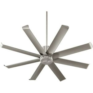 Quorum Proxima 60' Patio Fan, Satin Nickel - 196608-65