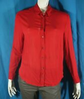 THE KOOPLES SPORT Taille M - 38 Superbe chemise manches longues rouge foncé femm
