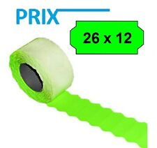 12.000 x Prix Labels for Price Labeler Sato Blitz Uno 26mm x 12mm in Green