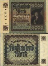 German Empire Rosenbg: 80a, watermark Hakensterne used (III) 1922 5.000 Mark