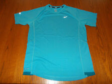 Nike Miler Short Sleeve Blue Crew Neck Running Shirt Mens Large Excellent Cond