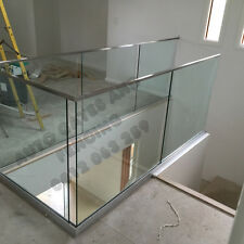 Glass Top rail square or round, Glass Pool Fence, Balcony glass railing