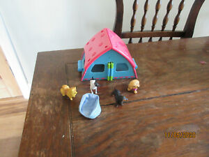 DOGGY DAY CARE KENNELS ATTACH FENCE BASKET SAUSAGE DOG JACK RUSSELL PLAYFIGURES